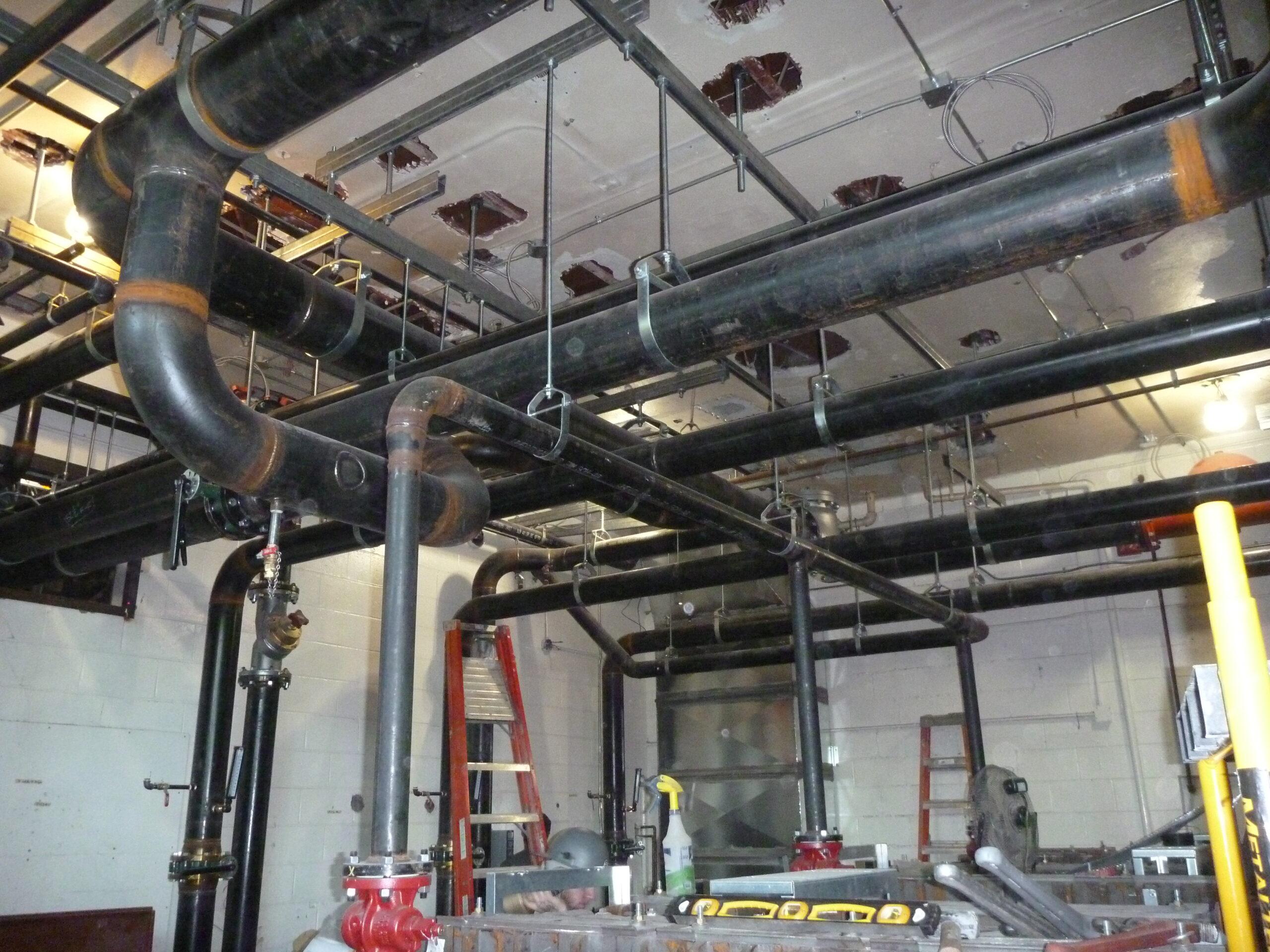 Heating Lines in Boiler Room